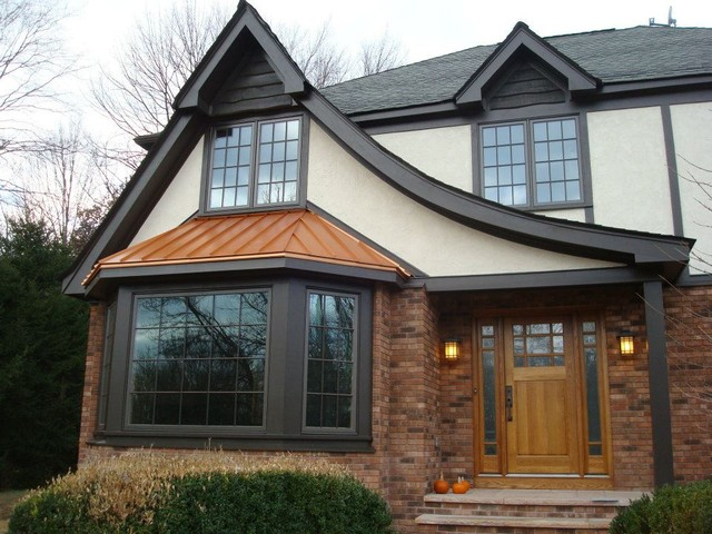 Tudor style home exterior remodel for Redesign house exterior