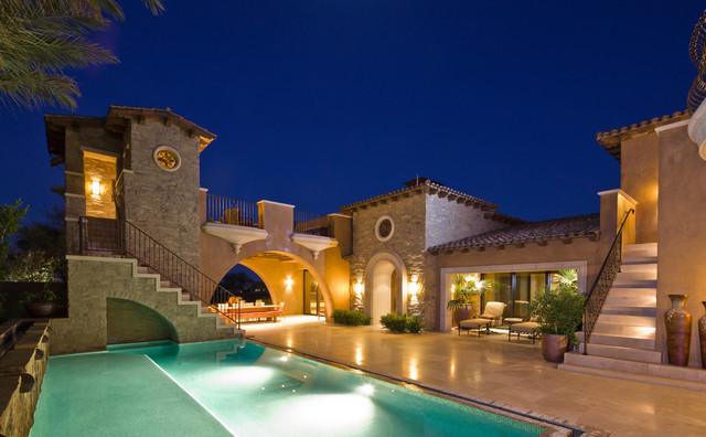 tuscan architecture - mediterranean - exterior - orange county