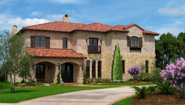 Tuscan traditional exterior oklahoma city by brent for Tuscan exterior design