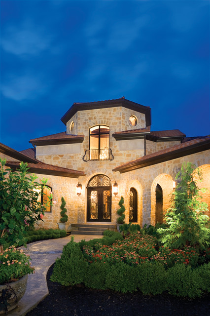 Stone Front Elevation House : Tuscan elevation