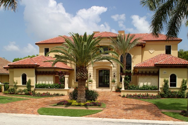 Tuscan house mediterranean exterior miami by hollub homes - Tuscan style house plans passionate architecture ...