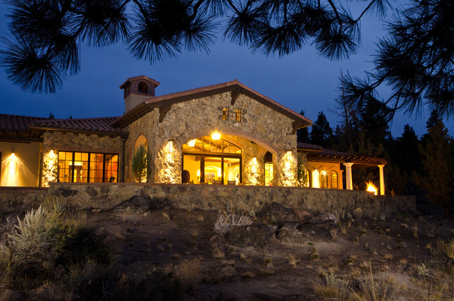 Tuscan in the Pines - Mediterranean - Exterior - portland - by Homeland Design, llc
