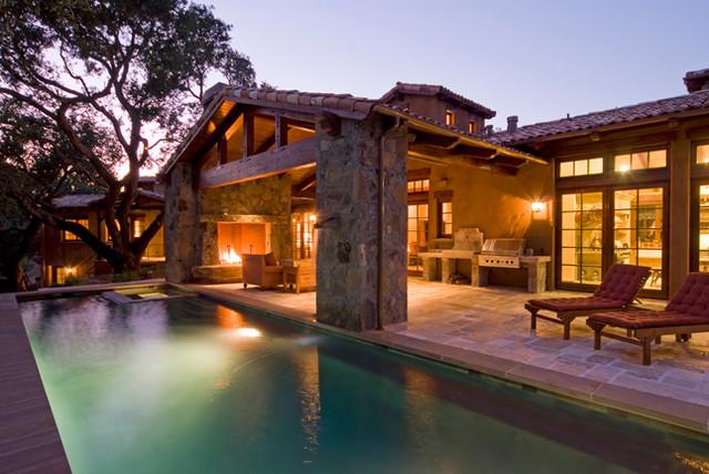 Tuscan Ranch House Mediterranean Exterior San
