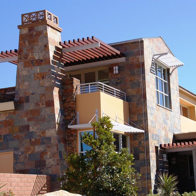 Tuscan Tile Contemporary Home contemporary-exterior