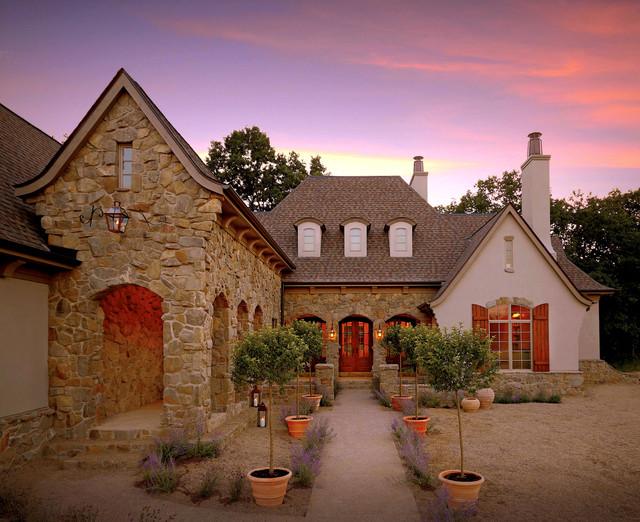 Tuscan Villa House Traditional Exterior Detroit By