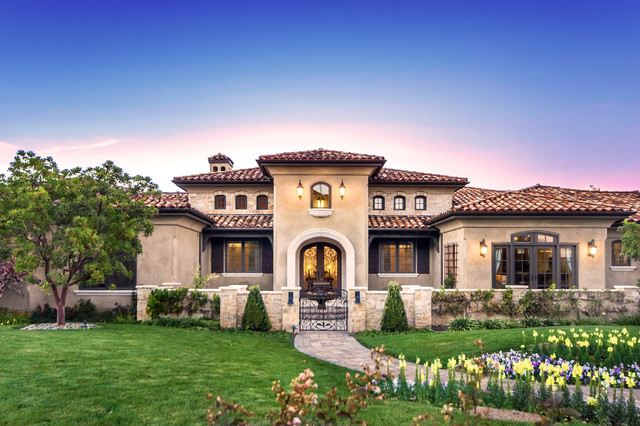 Tuscan vineyard estate mediterranean exterior other Tuscan style house plans