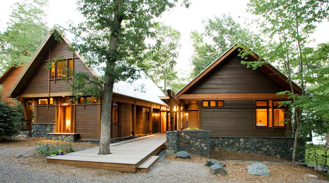 Two House House rustic-exterior