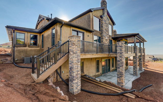 Two Story Custom Home Rustic Exterior Other Metro