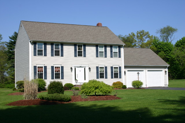 Two story homes traditional exterior providence by for 2 story exterior design