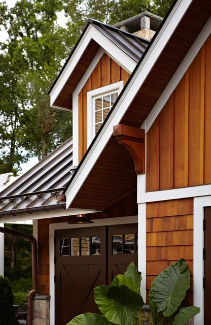 Ultimate man cave and sports car showcase traditional for Metal shiplap siding