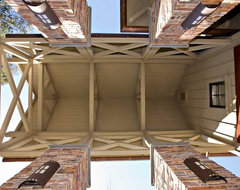 Underside of Pergola in entry eclectic-exterior