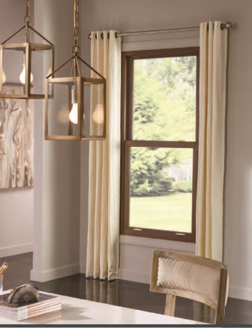 Exterior Double Hung Windows : Uniframe double hung replacement window traditional