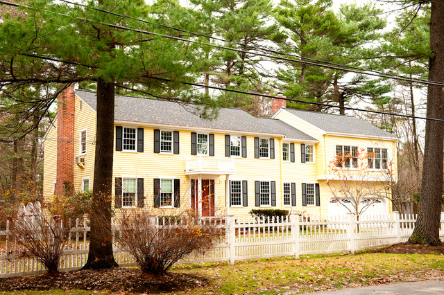 Updated traditional new england colonial traditional exterior other metro by mary prince for Updated colonial home exterior