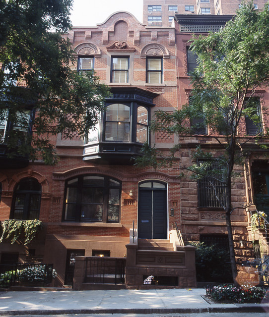 upper east side brownstone exterior new york by