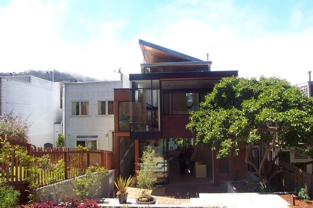 Urban Infill House Exterior contemporary-exterior