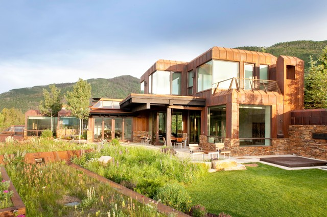 Vail Guest House rustic-exterior