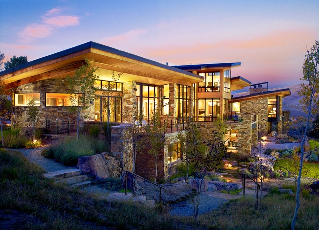 Vail valley mountain contemporary contemporary for Mountain luxury home plans