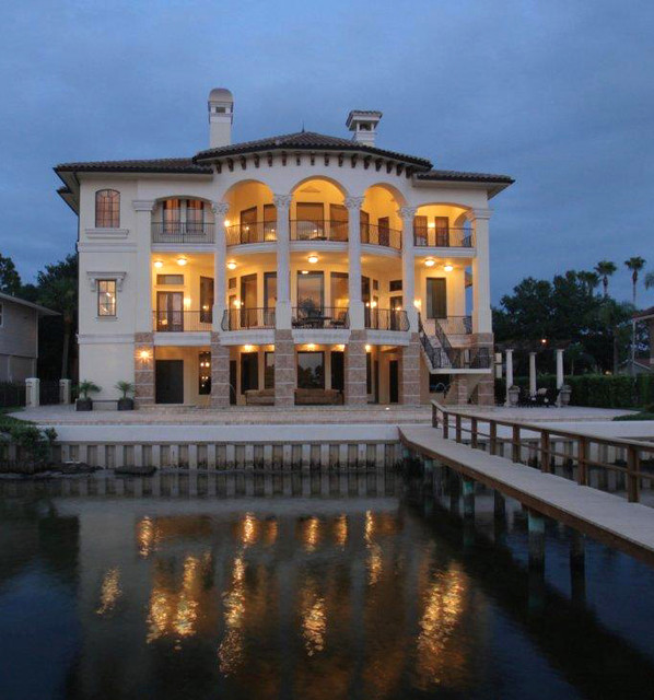 Venetian style waterfront palazzo mediterranean for Dream home design usa