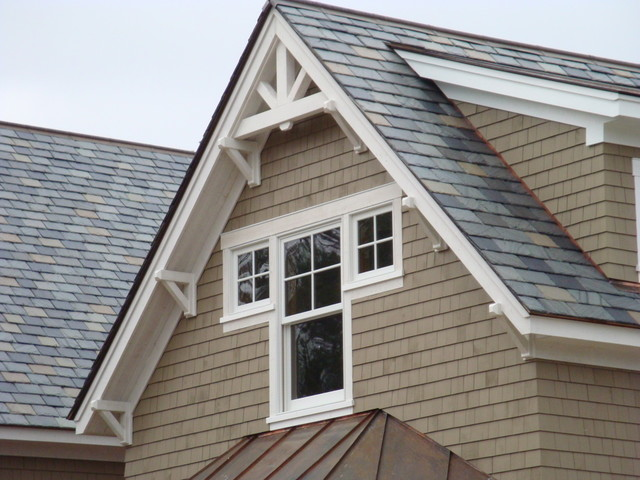 Vermont country craftsman craftsman exterior for Craftsman gable brackets