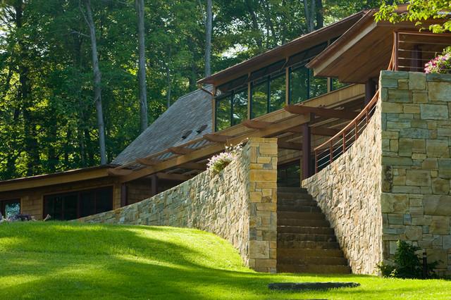 vermont lake house rustic exterior burlington by