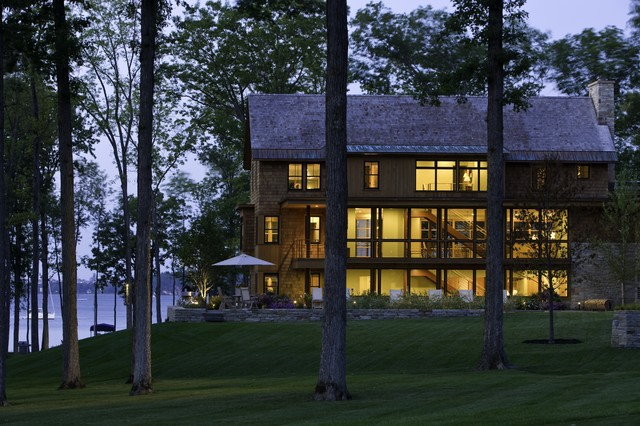 Vermont Lake House Rustic Exterior Burlington By