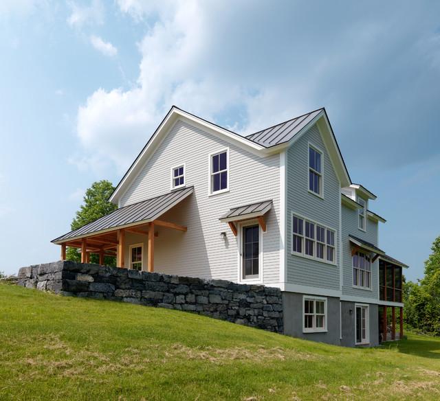 Vermont Riverbank Farmhouse farmhouse-exterior