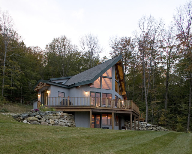 Vermont ski prow modern exterior burlington by for Prow style house plans
