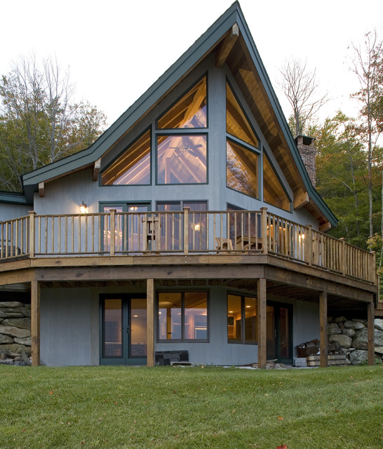 Vermont ski prow modern exterior burlington by for Prow home plans