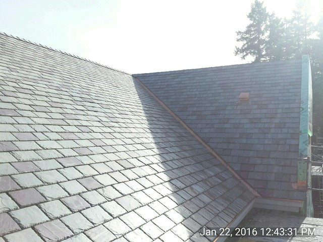 Vermont slate roof traditional exterior portland for Vermont slate colors