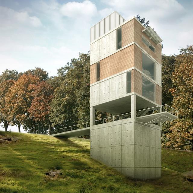 Vertical House - Exterior modern-exterior