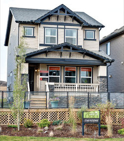 Verve in Nolan Hill in Northwest Calgary traditional-exterior