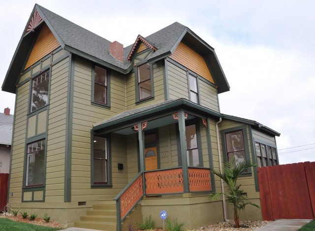 Victorian exterior colors traditional exterior san diego by green button homes llc for Historic house colors exterior