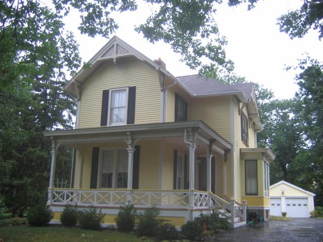 Victorian Home Garage Traditional Exterior Cincinnati By Exteriors Unlimited Inc