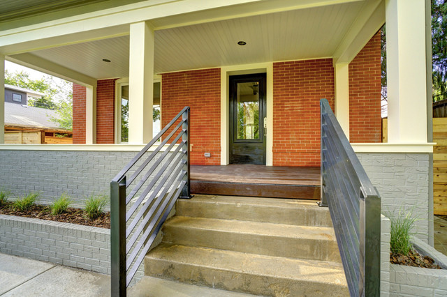 Victorian Meets Modern Transitional Exterior By