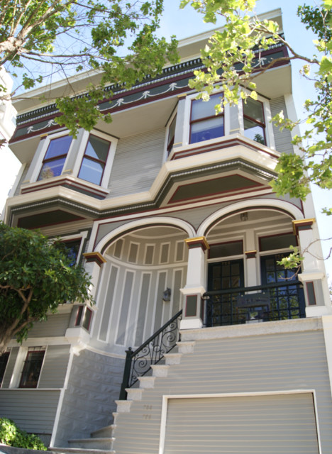 Inspiration for a victorian exterior home remodel