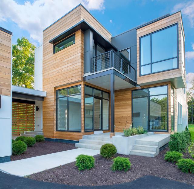Houzz Home Design Exterior Entrance: Vienna Custom Home Entry