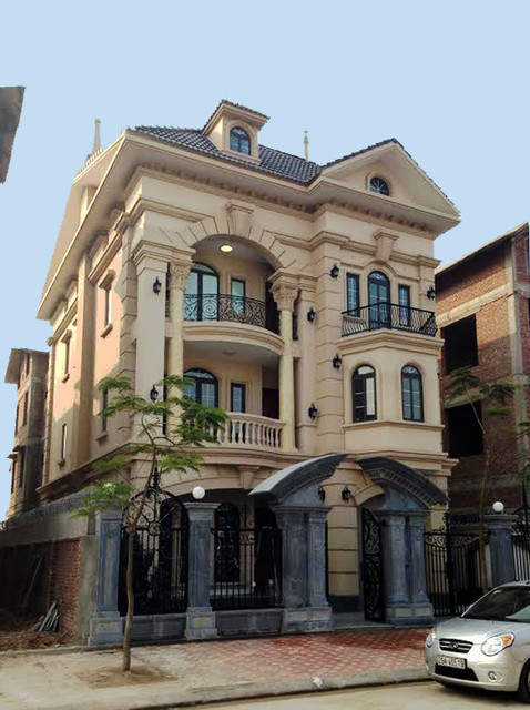 Vietnam luxury classical townhouse condominium for Classic house design ideas