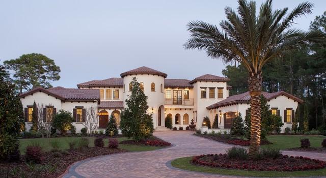 Villa silvina mediterranean exterior orlando by Mediterranean custom homes