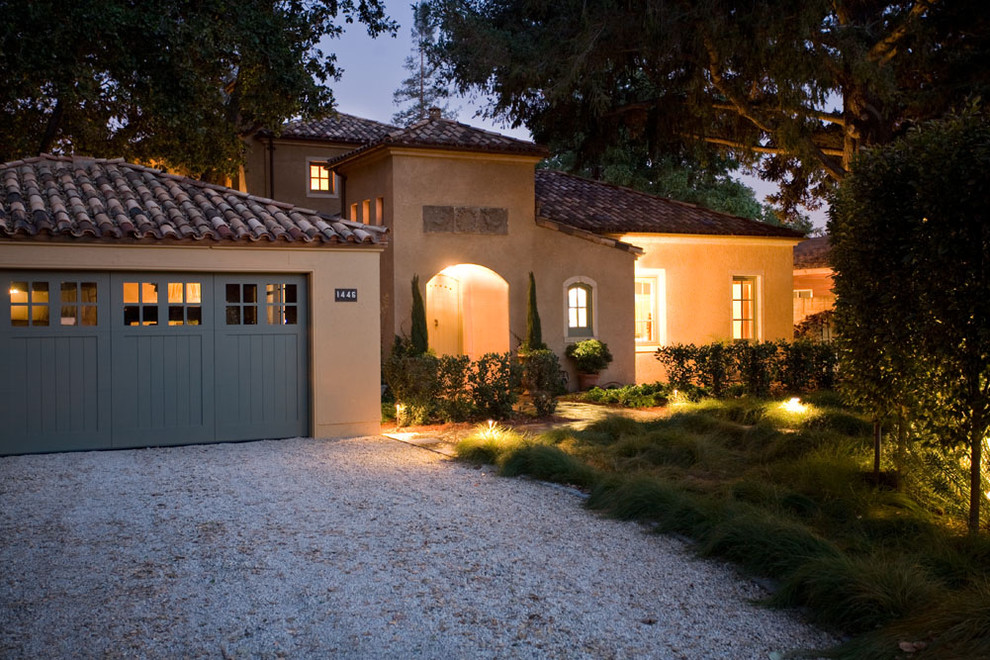 Example of a tuscan one-story exterior home design in San Francisco