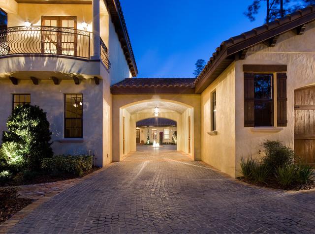 Villa toscana mediterranean exterior orlando by for What is a courtyard garage
