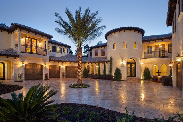 Villa verona mediterranean exterior orlando by for Florida estates for sale
