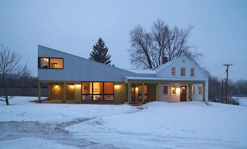 Farmhouse Exterior by Richmond Architects & Building Designers Birdseye Design