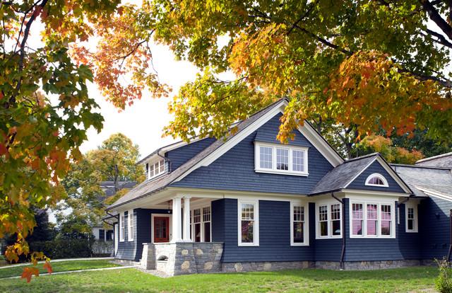 houzz garage door ideas - Village Home Traditional Exterior new york by