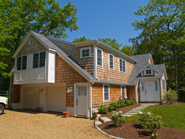ordinary raised ranch addition #5: Vineyard Haven Raised-Ranch Renovation/Addition traditional-exterior