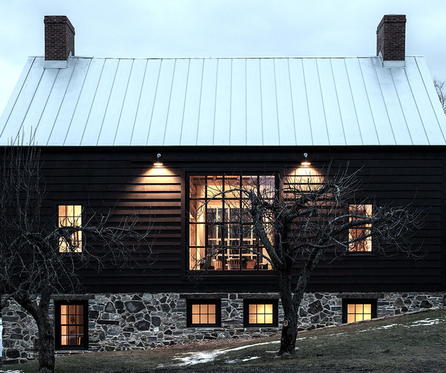 Vintage Barn Frame Addition To Dutch Stone House