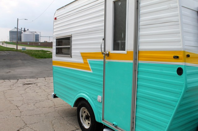 Vintage Caravan Or Travel Trailer Midcentury Exterior