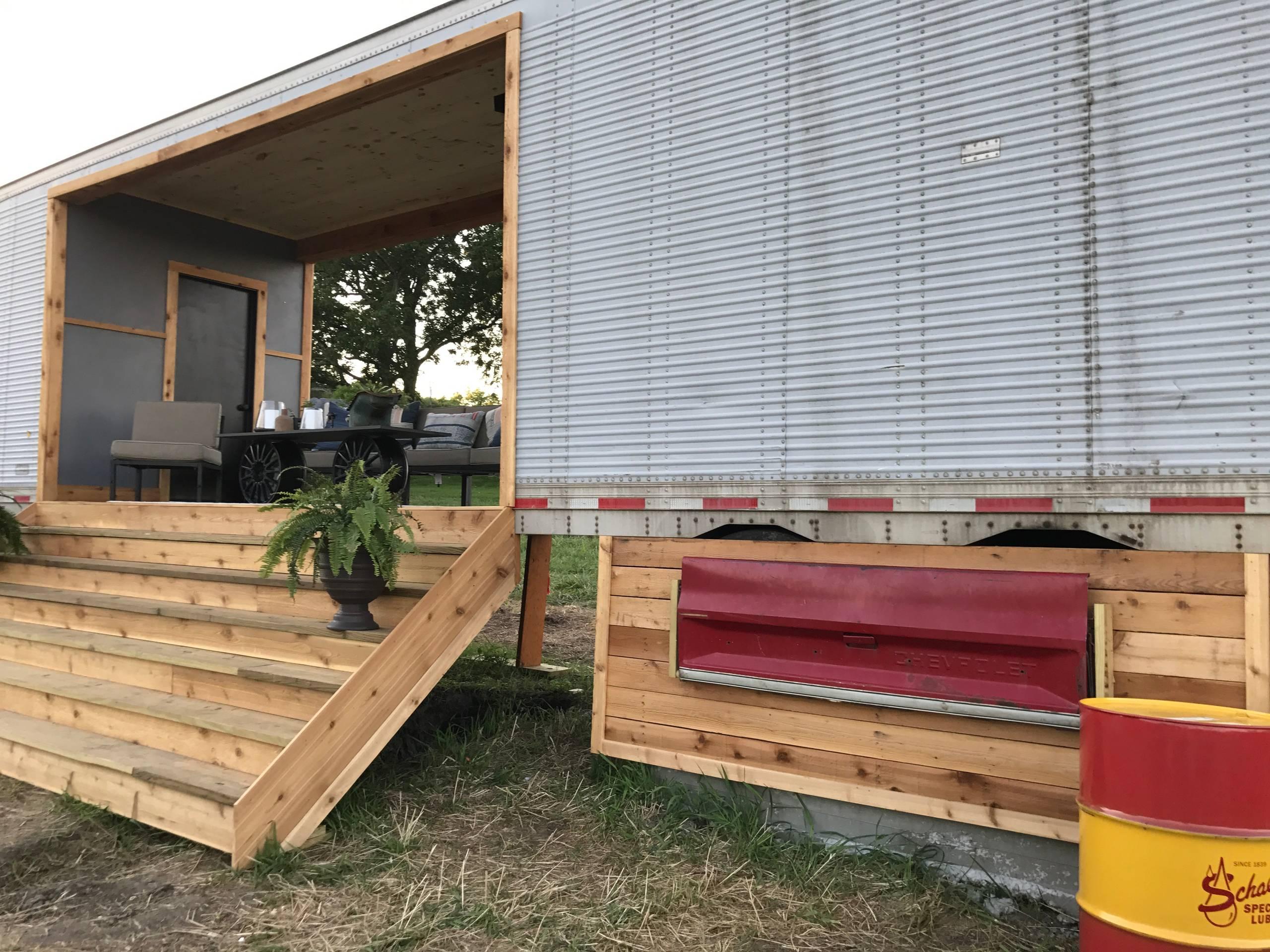 Vintage semi trailer reno turned tiny home