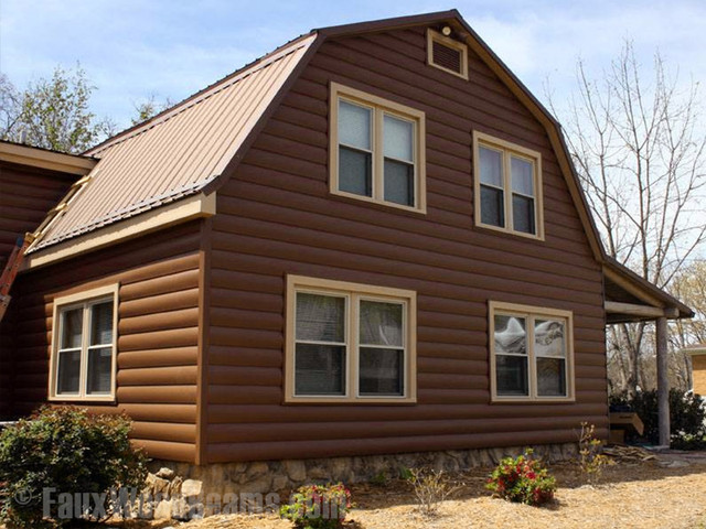 Vinyl Log Siding Rustic Exterior New York By