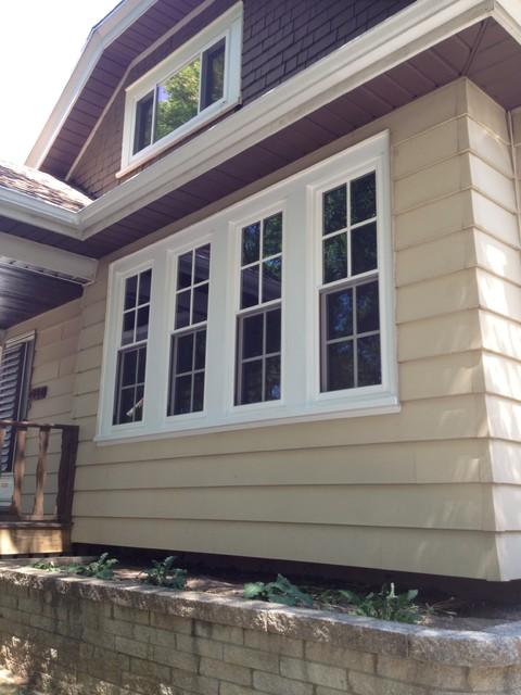 Quadruple Hung Windows : Vinyl quad double hung window unit traditional windows