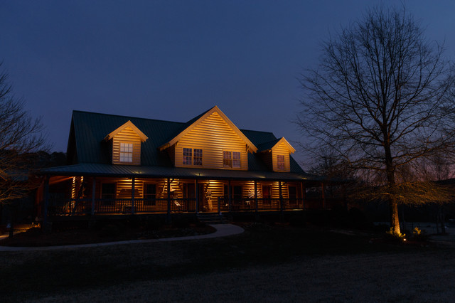 Waleska GA House Lighting Project Farmhouse Exterior atlanta by Nigh